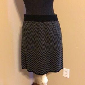 Sweater Skirt in Chevron